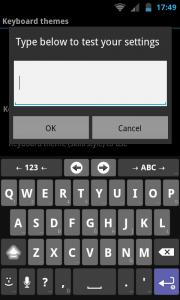 AnySoftKeyboard - Test settings