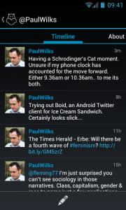 Boid - Personal timeline