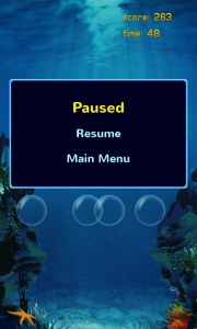 Bumble - Pause menu