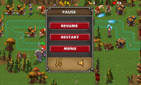 Empire Defense II - Pause menu