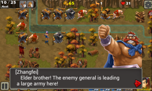 Empire Defense II - Warnings when a boss approaches