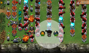 Empire Defense - Tap towers to upgrade or sell