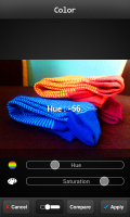 FX Photo Editor - Hue opacity