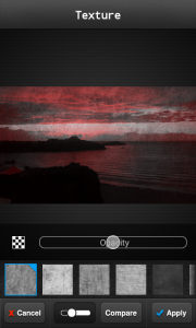 FX Photo Editor - Opacity levels on slider