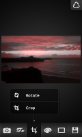 FX Photo Editor - Rotate and crop menu