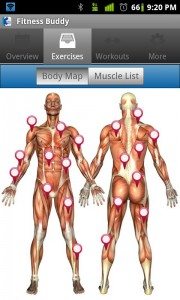 Fitness Buddy Body Map