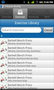 Fitness Buddy Exercise Library