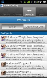 Fitness Buddy Workouts 2