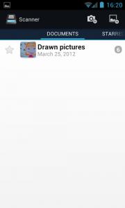 Handy Scanner - Documents menu