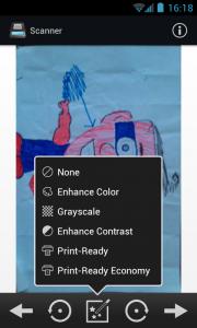 Handy Scanner - Effects menu
