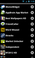 Lookout Ad Network Detector - Affected apps list, links to app settings