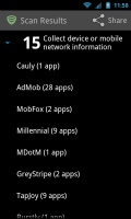 Lookout Ad Network Detector - Found ad-network list