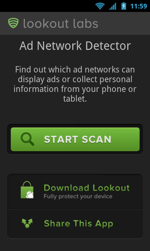 Lookout Ad Network Detector, a Security app to Detect ad networks from other Android apps with Helpful explanations