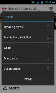 MLS Matchday 2012 - Alerts