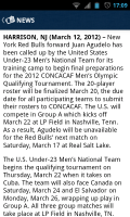 MLS Matchday 2012 - News view