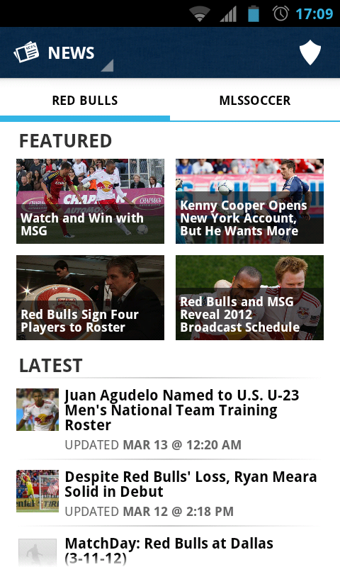 MLS Matchday – the Official Major League Soccer app