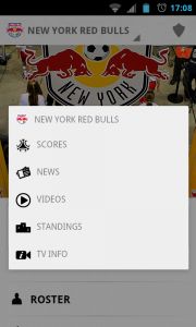 MLS Matchday 2012- Profile menu