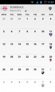 MLS Matchday 2012 - Schedule