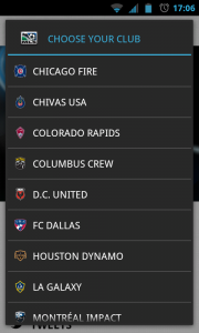 MLS Matchday 2012 - Select your team