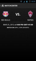 MLS Matchday 2012 - Upcoming fixture
