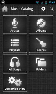 N7player - Catalogue menu