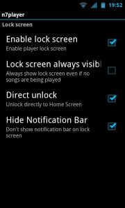 N7player - Lockscreen controls