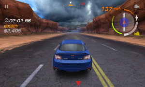 Need for Speed Hot Pursuit - Red arrow indicated pursuer