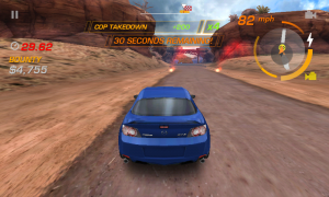 Need for Speed Hot Pursuit - Red flares indicate end