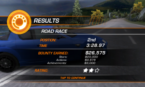 Need for Speed Hot Pursuit - Road race results