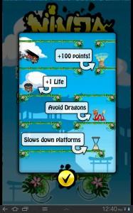 Ninja Falldown Instructions 1