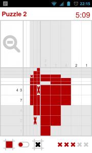 Nonomatic - 10x10 Mid-puzzle