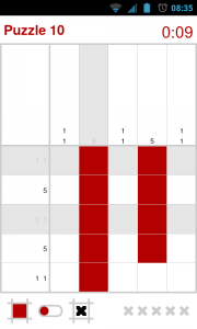 Nonomatic - Switch between filling squares and marking with an X