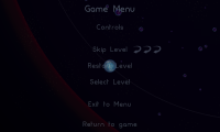 Osmos HD - Pause menu