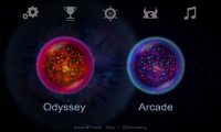 Osmos HD - Two modes, Odyssey and Arcade