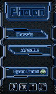 Photon - Main menu