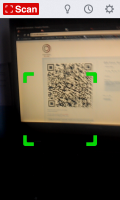 Scan - Scanning QR code view