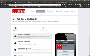 Scan - Web interface, with code creator