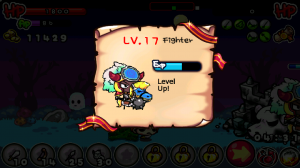 Shooting Warrior Hero Levelup