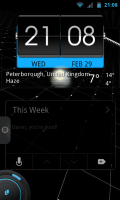 TSF Shell Pro - Basic homescreen set up, clock is separate
