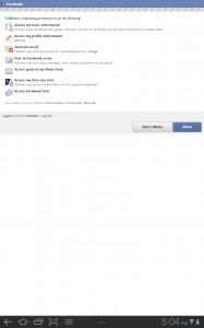 Talkover Facebook Permissions