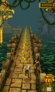 Temple Run - Collect coins to buy bonus items from the store