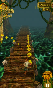 Temple Run - Fill the bar on the left for more bonuses