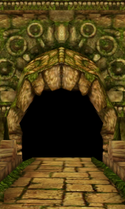 Temple Run - The temple, right before you burst out of it