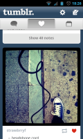Tumblr - Share posts and select favourites