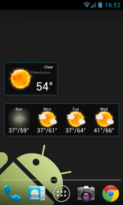 Weatherlove - 2x1 widget, 4x1 widget