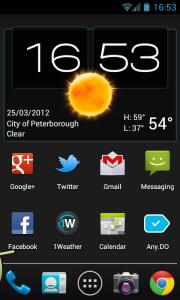 Weatherlove - 4x2 clock widget