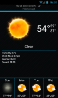 Weatherlove - Main app weather view