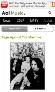 Winamp - Artist news via AOL