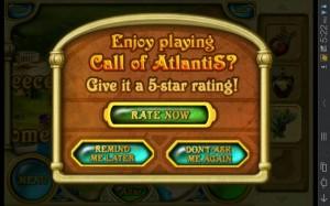 Call of Atlantis Rating