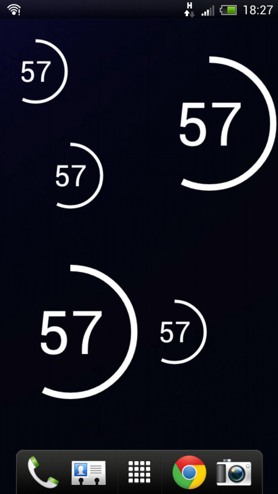 Circle Battery Widget, a sleek & minimal Battery Status widget for your homescreen